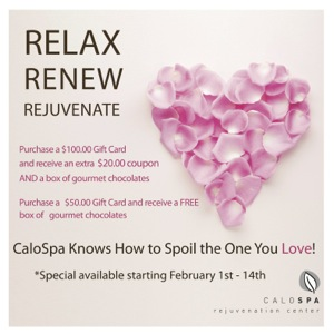 your loved one relax, renew and rejuvenate at CaloSpa. Dr. Calobrace